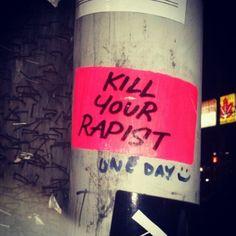 toronto Stickers slaps killyourrapist kill your rapist feminist street art Madison Montgomery, Vent Art, My Demons, Magical Girl, Satan, Trauma, Just In Case, It Hurts, Street Art
