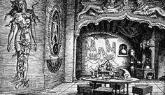 Zamek kabalisty, projekt scenograficzny Jerzego Skarżyńskiego do Rękopisu znalezionego w Saragossie W. J. Hassa