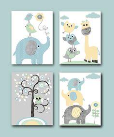 Baby Boy Nursery Prints Kids Art for Children Kids by artbynataera