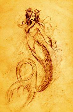 Sirena by ~ Pedrules mermaid. Real Mermaids, Mermaids And Mermen, Hans Christian, Fantasy Creatures, Mythical Creatures, Mermaid Fairy, Merfolk, Monster, The Little Mermaid