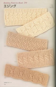 Lovely photography and charts for complex cables and some lace knitting stitches - Picasa Album. Original publication is Japanese but charts are beautifully clear.