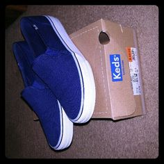 NEW Keds NEW Women's navy blue slip on keds size 6.5 ..$28.00 keds Shoes Sneakers