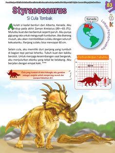 Buku Pintar Ensiklopedia Dinosaurus dan Binatang Purba Katabaca.com Jurassic World, Peta, Dinosaurs, Studying, Knowledge, Science, Horses, Education, Friends
