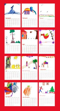 Home Made calendar School Teacher, Art School, Make A Calendar, Kids Corner, School Organization, Free Prints, Kids House, School Projects, Diy Crafts For Kids