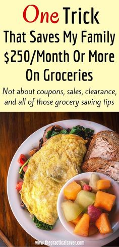 Want to cut your grocery bill, save money on food, or control your food budget? This post describes the one tip or trick that helps my family save money every month on food expense. No couponing, getting stuff on sale or clearance, growing veggies, etc. #