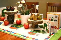 Very Hungry Caterpillar Baby Shower Table Decorations