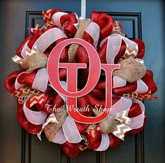 University of Oklahoma Mesh and Burlap by CreationsbySaraJane