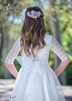 Girl Hairstyles, Wedding Hairstyles, Romantic Wedding Hair, Communion Dresses, First Communion, Flower Girl Dresses, Princess, Wedding Dresses, Hair Styles
