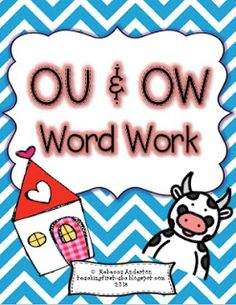 OU and OW word work printables