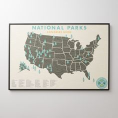 One doesn't have to be a nature lover to appreciate the splendor of America's national parks. A Schoolhouse Electric Exclusive, this generously sized print designed by Ello There is a graphic celebration of the nation's forested lands. We use premium, archival paper composed of 100% cotton rag to ensure the highest print color quality and to withstand the test of time.  Framed Art Care: Wipe clean with soft dry cloth, avoid household cleaners and abrasives    Available unframed or framed in…