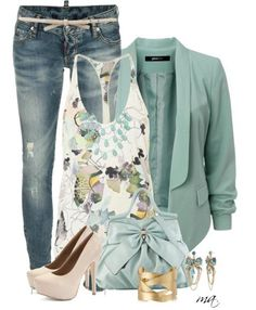 cute outfits for spring women | Fresh Mint Casual Spring Outfits