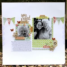 Pretty Party crate paper layout - Two Peas in a Bucket
