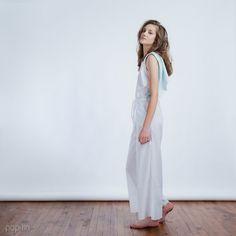 Open Back Jumpsuit  Light Blue by PoplinHomewear on Etsy