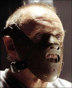 Anthony Hopkins as serial killer Hannibal Lecter