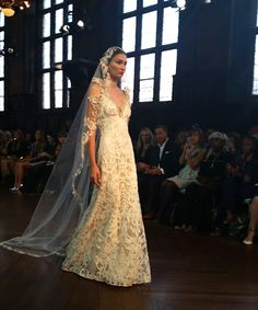 A stunning, romantic gown from @clairepettibone | Brides.com
