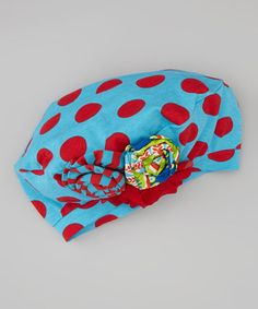 Take a look at this Turquoise & Red Gretchen Hat by Mustard Pie on #zulily today!