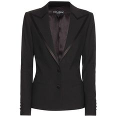 Dolce & Gabbana Blazer In Wool And Silk ($1,515) ❤ liked on Polyvore featuring outerwear, jackets, blazers, suit, black, silk blazer, dolce gabbana blazer, blazer jacket, wool blazer and dolce gabbana jacket