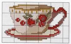 ponto cruz cozinha bules - Pesquisa Google