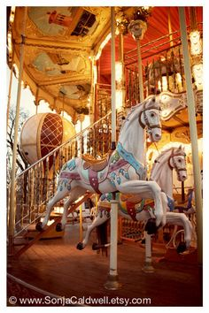 Items similar to Carousel Horse Photo - Paris photography, nursery decor, whimsical wall art, yellow red gold - or - Original Fine Art Photography on Etsy Mary Go Round, Art Du Cirque, Carosel Horse, Amusement Park Rides, Carnival Rides, Ville France, Wooden Horse, Painted Pony, Paris Photography