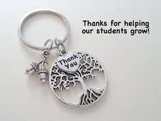 Tree Keychain for Teacher - Thanks for Helping Our Students Grow – JewelryEveryday
