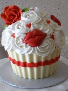 Cupcake St-Valentin /  Valentine's Day cupcake
