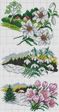 Gallery.ru / Фото #1 - 5 2015 - ergoxeiro Cross Stitch House, Beaded Cross Stitch, Cross Stitch Borders, Cross Stitch Flowers, Cross Stitch Charts, Cross Stitch Designs, Cross Stitching, Cross Stitch Embroidery, Cross Stitch Patterns