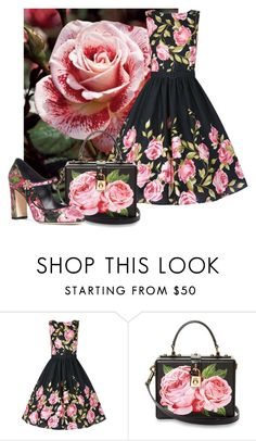 """""""Everything's Rosy"""" by itsablingthing ❤ liked on Polyvore featuring Dolce&Gabbana"""