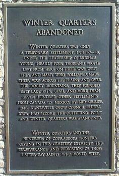 mormon pioneer trail | Winter Quarters Abandoned