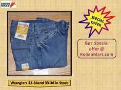 Get popular Wrangler jean in many size 32-34and 33-36 in Stock. Rodeo Mart is offering you branded jeans in very cheap price. Get it here -----> https://www.rodeomart.com/33MWXBG-Extreme-Relaxed-Fit-Wranglers-in-stock-p/33mwxbg-stock-32-34.htm  #MensWesternClothing  #mensjeans #wranglers #rodeospecials #westernspecials