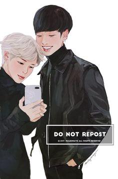 BTS Jimin Jungkook Jikook Kookmin  fanart