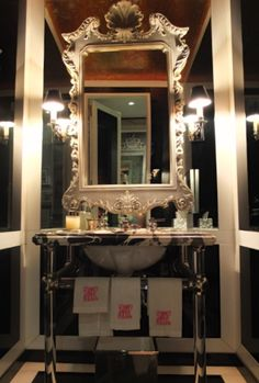 Powder Room in Miles Redd's own West Village Townhouse, NYC.