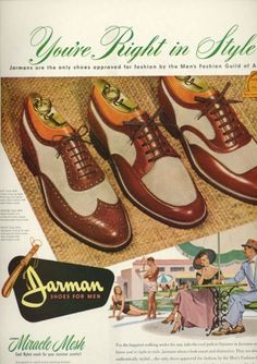 Image detail for -1950's Large Ads: MENS' SHOES | eBay