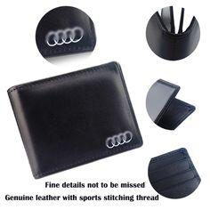 Sac de licence De Portefeuille Bourse Logo De Voiture permis de Conduire Paquet Pour Audi 80 A1 A2 A3 A4 B5 B6 B7 B8 A5 A6 C5 C6 A7 Q3 Q5 Q7 TT S5 Sline