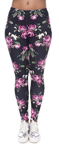 c5f7797390 UP Damen Strumpfhose Sport Print Yoga Leggings Workout Fitness Running  Pants Mehrfarbig One Size