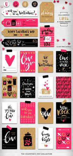 Valentine's day gift tags & overlays by kite-kit on Creative Market - Garten Dekoration Journal Stickers, Scrapbook Stickers, Planner Stickers, Gift Tags Printable, Printable Stickers, Free Printable, Valentine Crafts, Valentine Day Gifts, Valentine Decorations