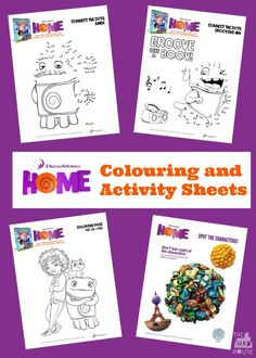 Dreamworks Home Colouring And Activity Sheets Over 10 Free Printable For