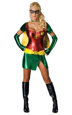 Be the best looking sidekick in our Ladies Robin Costume