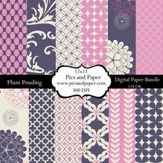 Digital  scrapbooking paper and crafts Flowers by PicsandPaper, $4.00