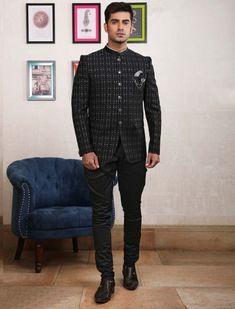 Black mens designer jodhpuri suit Tuxedo Coat, Buy Suits, Off Black, Black Party, Jodhpur, Men Online, Blazers For Men, Mens Suits, Party Wear