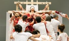 Image result for hermann Nitsch slaughter exhibition