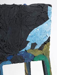 Textile resin furniture by German designer Tobias Juretzek.