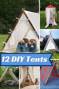 DIY Kid's Play Tents Indoor & Outdoor - Addicted 2 Savings 4 U
