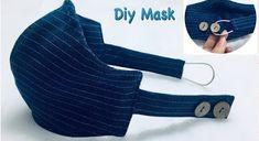 Sewing Hacks, Sewing Tutorials, Sewing Crafts, Easy Face Masks, Diy Face Mask, Homemade Face Masks, Mascara 3d, Fashion Face Mask, Diy Mask