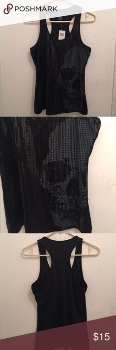 Hot topic sequin racer back too. Never worn. Skull on the left side. Hot Topic Tops