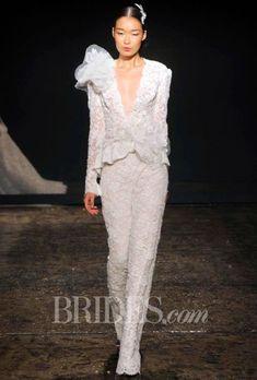 Tendance Robe du mariée  2017/2018  Brides.com: Lazaro Fall 2014 Lace Wedding Suit Wedding Dress   Click to see more