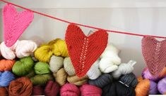 Be Mine Heart Garland Free knitting pattern from Jimmy Beans Wool