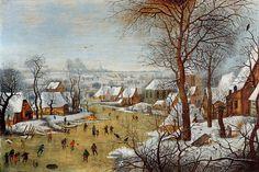 Pieter Brueghel el Joven (1564-1638) - Paisaje del invierno