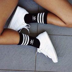 Classic black and white  www.stylerunner.com  #stylerunner #shoeenvy #inspiration