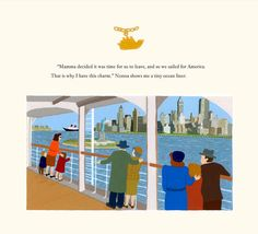 A beautiful look at the New York City skyline from I WILL COME BACK FOR YOU: A Family in Hiding During World War II