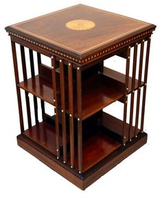 Antique Mahogany Revolving Bookcase